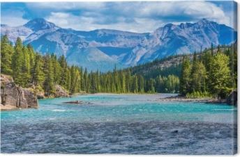 Leinwandbild Wunderschöne Berglandschaft in Kanada