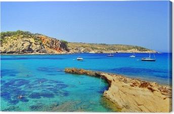 Leinwandbild Xarraca Cala, Ibiza, Islas Baleares, Spanien (Europa)