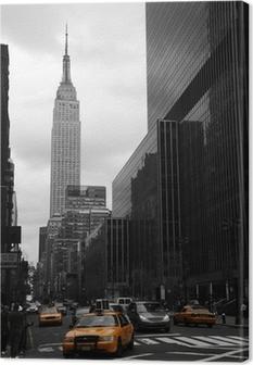 Leinwandbild Yellow Taxis auf der 35. Straße, Manhattan, New York