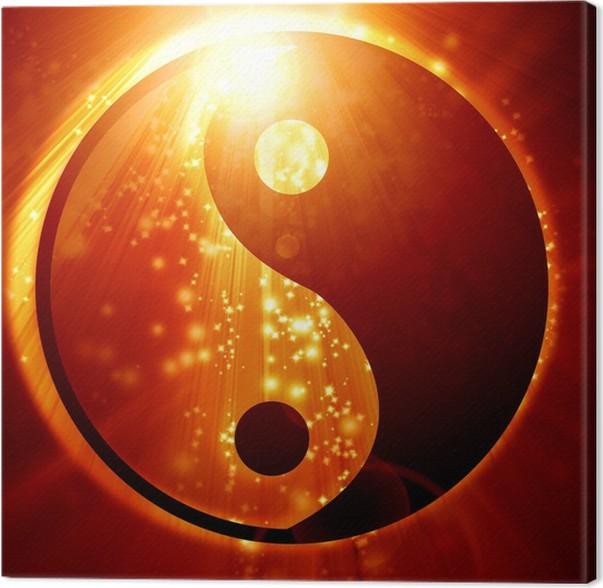 leinwandbild yin yang zeichen pixers wir leben um zu ver ndern. Black Bedroom Furniture Sets. Home Design Ideas