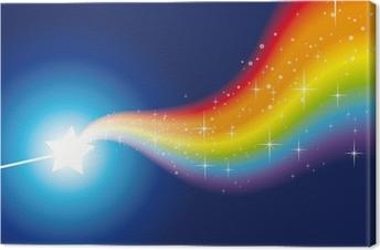 Leinwandbild Zauberstab Regenbogen funkelt 2