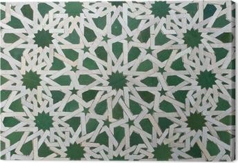 Leinwandbild Zellige marokkanischen Fliesen-Muster