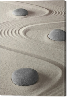 Leinwandbild Zen garden