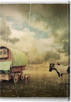 Leinwandbild Zigeunerwagen, Wohnwagen