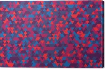 Leinwandbild Zusammenfassung Hintergrund der Dreiecke. Die Abstufung von Violet. Violetten Reflexen.