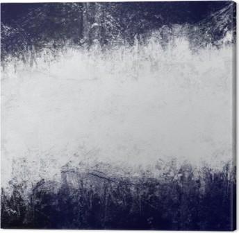 Lerretbilde Abstrakt malt bakgrunn i mørk blå og hvit med tomt plass til tekst