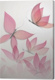 Lerretbilde Butterfly som blomst / surrealistisk floral bakgrunn