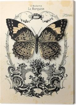 Lerretbilde Fond papillon