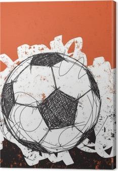 Lerretbilde Fotball ball bakgrunn
