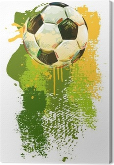 Lerretbilde Fotball ball banner. Alle elementene er i separate lag og gruppert.