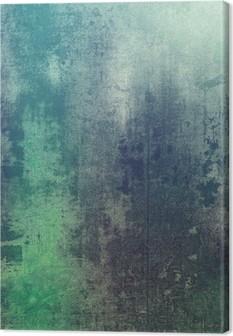 Lerretbilde Gammel tekstur som abstrakt grunge bakgrunn. Med forskjellige farge mønstre: grønn; lilla (fiolett); grå; cyan