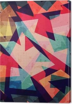 Lerretbilde Grunge geometriske sømløse mønster