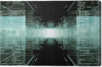 Lerretbilde Hacker verden