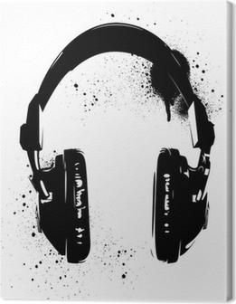 Lerretbilde Hodetelefoner Graffiti