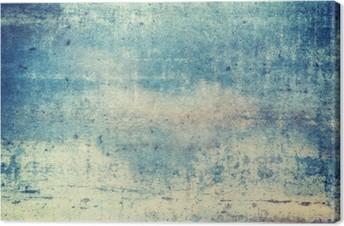 Lerretbilde Horisontalt orientert blå farget grunge bakgrunn