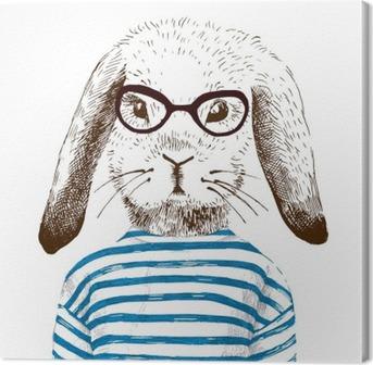 Lerretbilde Illustrasjon av kledd bunny