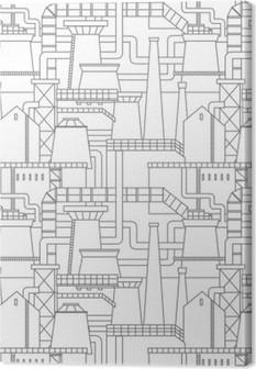 Lerretbilde Industriell bymønster