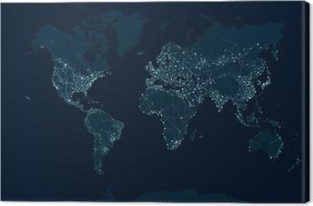 Lerretbilde Kommunikasjonsnettet kart over verden