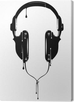 Lerretbilde Malte hodetelefoner