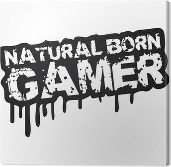 Lerretbilde Naturlig Born Gamer Stempel Graffiti