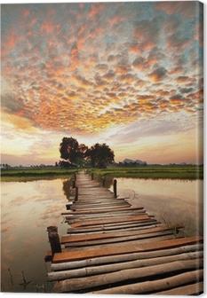 Lerretbilde River ved solnedgang