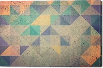 Lerretbilde Rosa og lilla trekant abstrakt bakgrunns illustrasjon