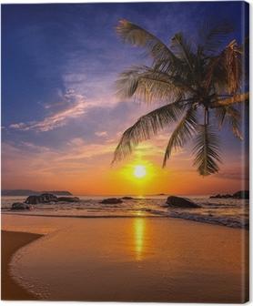 Lerretbilde Solnedgang over havet. Provinsen Khao Lak i Thailand