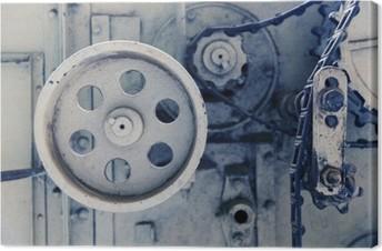 Lerretbilde Vintage maskin mekanisme på fabrikken