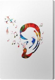 Lerretsbilde Abstrakt fargerik ørevektor