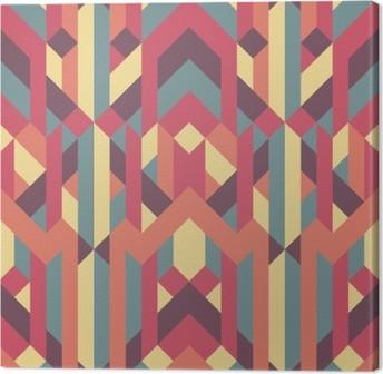Lerretsbilde Abstrakt retro geometrisk mønster