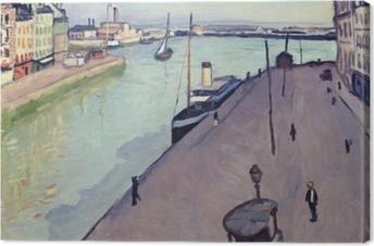 Lerretsbilde Albert Marquet - Udsigt over Le Havre havn (Notre Dame kaj)
