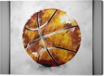 Lerretsbilde Basketball akvarell