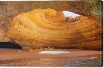 Lerretsbilde Berømte hule ved Benagil strand i Algarve Portugal