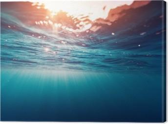 Lerretsbilde Blå sjø