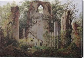 Lerretsbilde Caspar David Friedrich - Kloster ruin Eldena