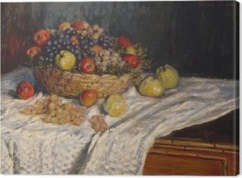 Lerretsbilde Claude Monet - Druer og epler