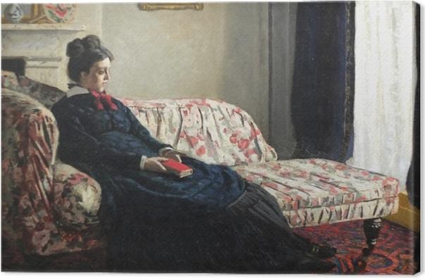 Lerretsbilde Claude Monet - Meditasjon, eller Madame Monet på sofaen -
