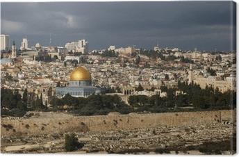Lerretsbilde Den hellige byen Jerusalem fra Israel