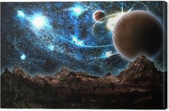 Lerretsbilde Den tapte verden, planet, kosmos