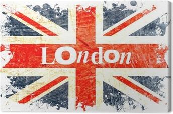 Lerretsbilde Drapeau anglais decoupe london