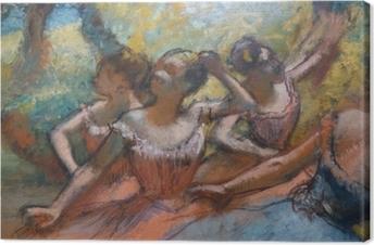 Lerretsbilde Edgar Degas - Fire dansere på scenen