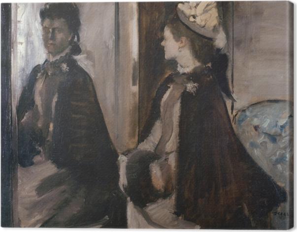 Lerretsbilde Edgar Degas - Madame Jeantaud i speilet -