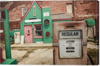 Lerretsbilde Forladt bensinstasjon på Route 66