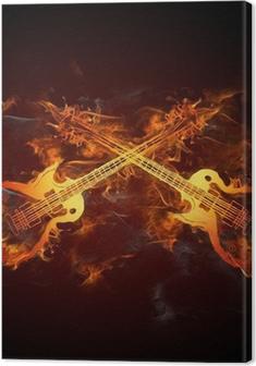 Lerretsbilde Gitarren Feuer