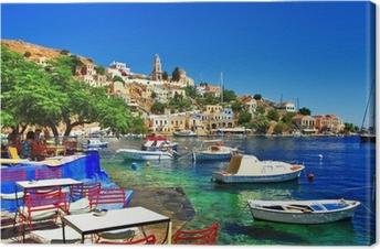 Lerretsbilde Greske helligdager Symi øy