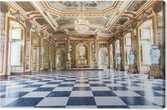 Lerretsbilde Hall of Ambassadors i Queluz National Palace, Portugal