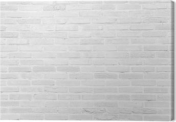 Lerretsbilde Hvit grunge murvegg tekstur bakgrunn