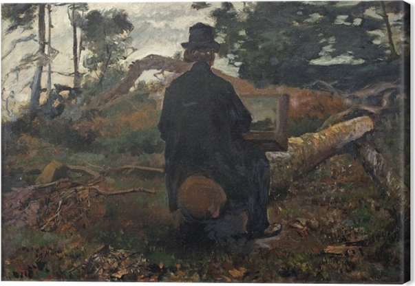 Lerretsbilde Jacob Maris - Maleren Frederik Hendrik Kaemmerer på Arbejdspladsen i Oosterbeek - Reproductions