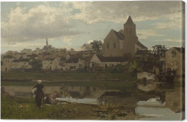 Lerretsbilde Jacob Maris - Udsigt på Montigny - Reproductions