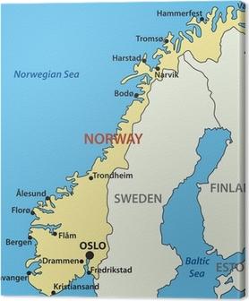 Karta Norge Drammen.Lerretsbilde Kart Over Norge Vektor Pixers Vi Lever For